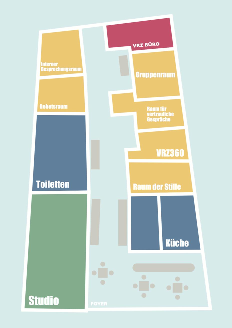 Raumübersicht VielRespektZentrum Erdgeschoss